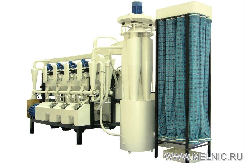 Мельница Мельник 800 Рожь с модернизированным блоком фильтров рукавных