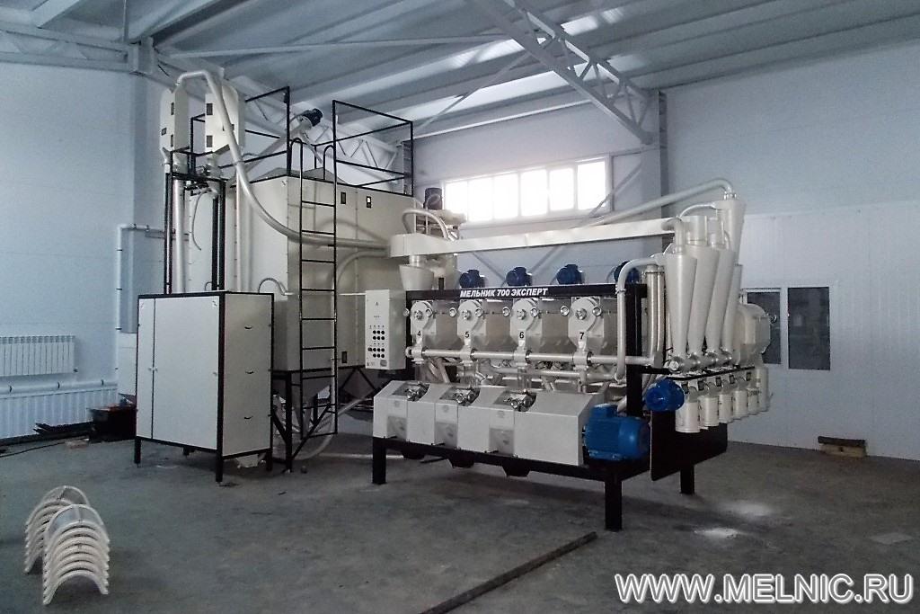 На монтаже мельницы МЕЛЬНИК 700 Эксперт в Республике Татарстан