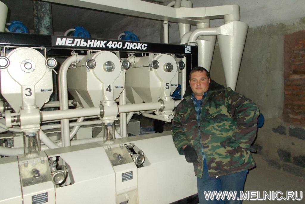 На монтаже мельницы МЕЛЬНИК 400 Люкс